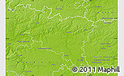 Physical Map of Péronne