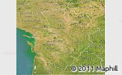 Satellite 3D Map of Poitou-Charentes