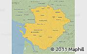 Savanna Style 3D Map of Poitou-Charentes