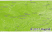 Physical Panoramic Map of Angouleme