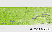 Physical Panoramic Map of Confolens