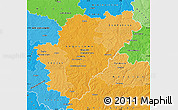Political Shades Map of Charente