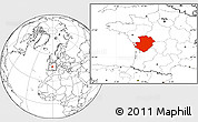 Blank Location Map of Poitou-Charentes