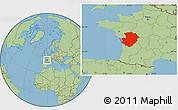Savanna Style Location Map of Poitou-Charentes