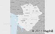 Gray Map of Poitou-Charentes