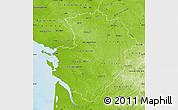 Physical Map of Poitou-Charentes
