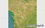 Satellite Map of Poitou-Charentes