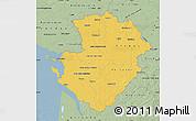 Savanna Style Map of Poitou-Charentes