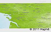 Physical Panoramic Map of Poitou-Charentes