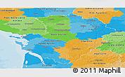 Political Panoramic Map of Poitou-Charentes