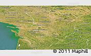 Satellite Panoramic Map of Poitou-Charentes