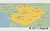Savanna Style Panoramic Map of Poitou-Charentes