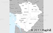 Gray Simple Map of Poitou-Charentes
