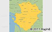 Savanna Style Simple Map of Poitou-Charentes