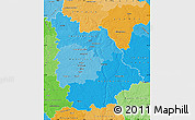 Political Shades Map of Vienne