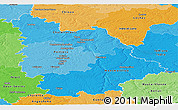 Political Shades Panoramic Map of Vienne