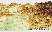 Physical Panoramic Map of Digne-les-Bains