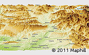 Physical Panoramic Map of Forcalquier
