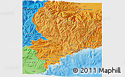 Political Shades 3D Map of Alpes-Maritimes