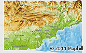 Physical 3D Map of Grasse