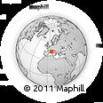 Outline Map of Grasse