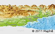 Physical Panoramic Map of Grasse