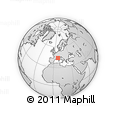 Outline Map of Alpes-Maritimes
