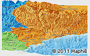 Political Shades Panoramic Map of Alpes-Maritimes