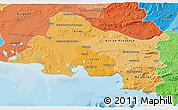 Political Shades 3D Map of Bouches-du-Rhône