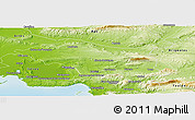 Physical Panoramic Map of Aix-en-Provence