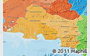 Political Shades Map of Bouches-du-Rhône