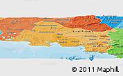 Political Shades Panoramic Map of Bouches-du-Rhône