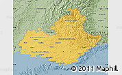 Savanna Style Map of Provence-Alpes-Côte d'Azur