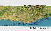 Satellite Panoramic Map of Provence-Alpes-Côte d'Azur
