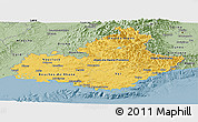 Savanna Style Panoramic Map of Provence-Alpes-Côte d'Azur