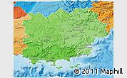 Political Shades 3D Map of Var