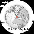 Outline Map of Brignoles
