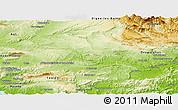 Physical Panoramic Map of Brignoles