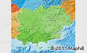 Political Shades Map of Var