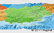 Political Shades Panoramic Map of Var
