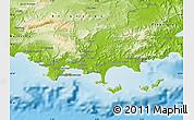 Physical Map of Toulon