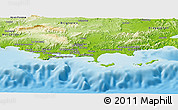Physical Panoramic Map of Toulon