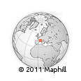 Outline Map of Carpentras