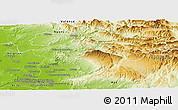 Physical Panoramic Map of Carpentras