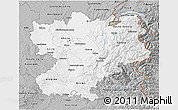 Gray 3D Map of Rhône-Alpes