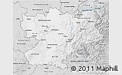 Silver Style 3D Map of Rhône-Alpes