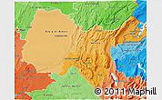 Political Shades 3D Map of Ain