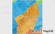 Political Shades 3D Map of Ardeche