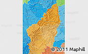 Political Shades Map of Ardeche