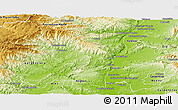 Physical Panoramic Map of Privas